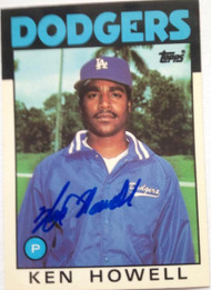 Ken Howell Autographed 1986 Topps Tiffany #654