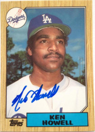 Ken Howell Autographed 1987 Topps Tiffany #477