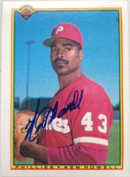 SOLD 4090 Ken Howell Autographed 1990 Bowman #147