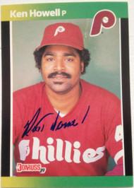 SOLD 4092 Ken Howell Autographed 1989 Donruss Baseball's Best #184
