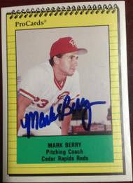 Mark Berry Autographed 1991 Pro Cards #2736