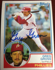 Greg Gross Autographed 1983 Topps #279