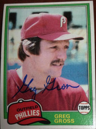 Greg Gross Autographed 1981 Topps #459