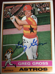 Greg Gross Autographed 1976 Topps #171
