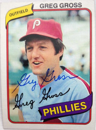 Greg Gross Autographed 1980 Topps #718