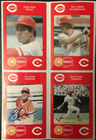 SOLD 4139 Eric Davis Autographed 1984 Borden Stickers SGA Rookie Very Tough