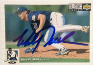Mitch Williams Autographed 1994 Collectors Choice #599
