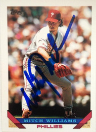 Mitch Williams Autographed 1993 Topps #235