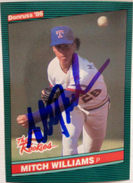 Mitch Williams Autographed 1986 Donruss Rookies #19