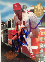 Mitch Williams Autographed 1994 Fleer Ultra Ultra Firemen #10
