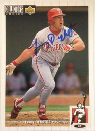 Lenny Dykstra Autographed 1994 Collectors Choice #369