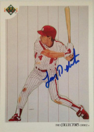 Lenny Dykstra Autographed 1991 Upper Deck #97