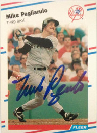 Mike Pagliarulo Autographed 1988 Fleer #216