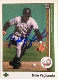 Mike Pagliarulo Autographed 1989 Upper Deck #569