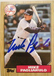 Mike Pagliarulo Autographed 1987 Topps #195