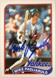 Mike Pagliarulo Autographed 1989 Topps #211