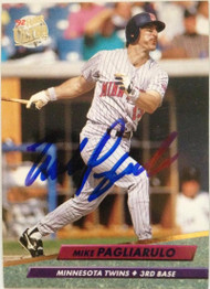 SOLD 4218 Mike Pagliarulo Autographed 1992 Fleer Ultra #96