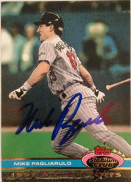 Mike Pagliarulo Autographed 1992 Stadium Club Dome #137
