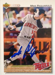 Mike Pagliarulo Autographed 1992 Upper Deck #509