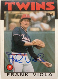 Frank Viola Autographed 1986 Topps #742