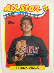 Frank Viola Autographed 1989 Topps #406