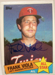 Frank Viola Autographed 1985 Topps #710