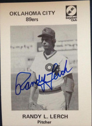 Randy Lerch Autographed 1976 Oklahoma City 89ers Minor League Team Issue #15