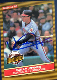 Wally Joyner Autographed 1986 Donruss Highlights #23