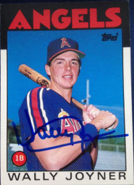 Wally Joyner Autographed 1986 Topps Traded #51T Rookie Card