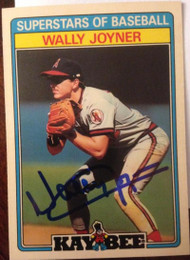 Wally Joyner Autographed 1987 Kay Bee #18