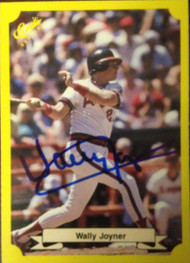 Wally Joyner Autographed 1987 Classic Update Yellow #108