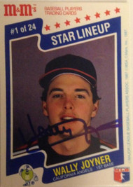 Wally Joyner Autographed 1987 M&M's Star Lineup #1