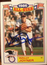 Wally Joyner Autographed 1987 Topps Glossy All-Stars #13