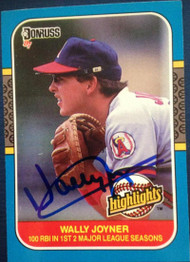Wally Joyner Autographed 1987 Donruss Highlights #35