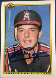 Wally Joyner Autographed 1990 Bowman #299