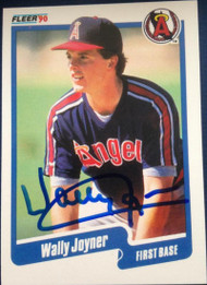 Wally Joyner Autographed 1990 Fleer #136
