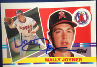 Wally Joyner Autographed 1990 Topps Big #168