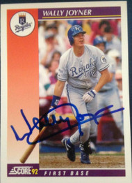 Wally Joyner Autographed 1992 Score Traded #13T