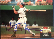 Wally Joyner Autographed 1992 Stadium Club #710