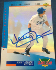 Wally Joyner Autographed 1993 Denny's Holograms #24