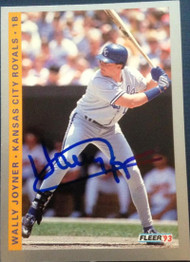 SOLD 4427 Wally Joyner Autographed 1993 Fleer #239