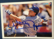 SOLD 4447 Wally Joyner Autographed 1994 Fleer #162