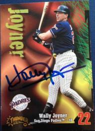 Wally Joyner Autographed 1998 Circa Thunder #154
