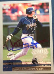 Wally Joyner Autographed 2000 Topps Opening Day #173
