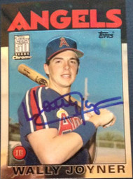 Wally Joyner Autographed 2001 Topps Chrome Traded #T120
