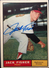 Jack Fisher Autographed 1961 Topps #463
