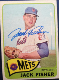 Jack Fisher Autographed 1965 Topps #93