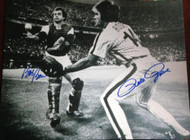Pete Rose and Bob Boone Autographed Phillies 11 x 14 Photo 2