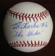 "Ed Charles Autographed ROMLB Baseball ""The Glider"""