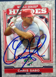 Chris Sabo Autographed 2014 Topps Update Series World Series Heroes #WSH-CS